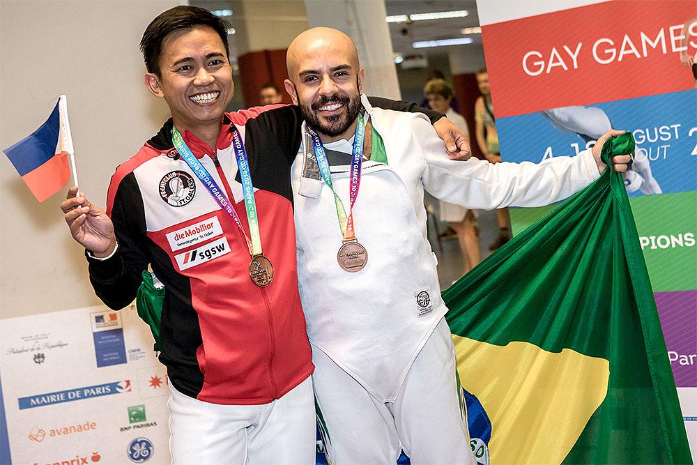 00e93f06fb Fábio Lemes levou o bronze na Esgrima em dupla com atleta filipino em Paris  - Foto